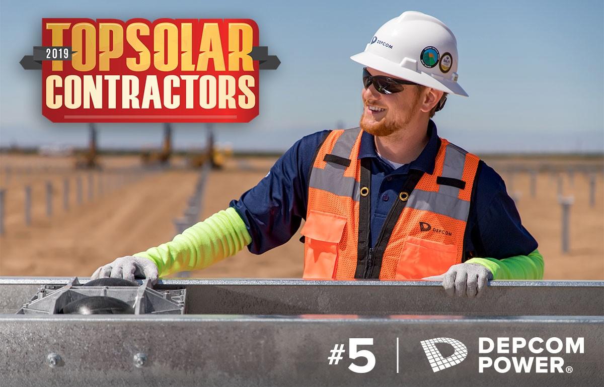 DEPCOM Power Named a Top Five EPC Solar Contractor by 2019 Top 400 Solar Contractors List